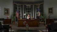 Warren in White House oval office