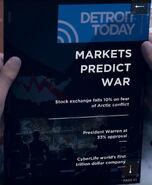 Markets Predict War