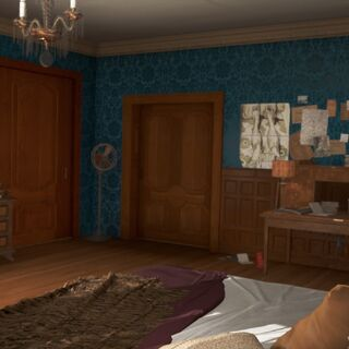 Sicht auf Schlafzimmertür