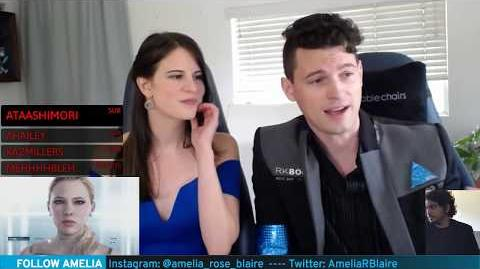 "Bryan Dechart plays RED CONNOR Stream 5 Detroit Become Human with Amelia Rose Blaire ""Traci"""