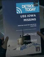 USS Iowa Missing