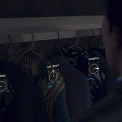 Der Inhalt von Hanks Kleiderschrank