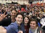 Bryan Dechart, Neil Newbon, Amelia Rose Blaire and Matt Vladimery