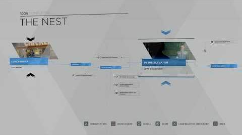 15 - CONNOR - THE NEST 100% FLOWCHART - DETROIT BECOME HUMAN