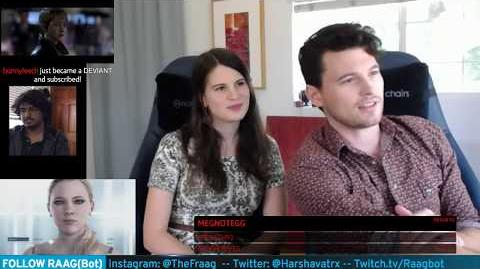 "Bryan Dechart plays RED CONNOR Stream 4 Detroit Become Human with Amelia Rose Blaire ""Traci"""
