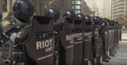 Riot Police Unit Freedom March Detroit