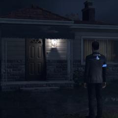 Connor vor Hanks Haus