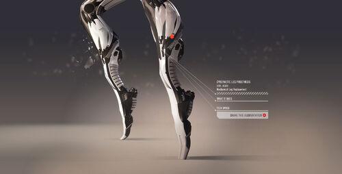 Cybernetic leg prosthesis