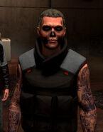 Dvali skull tatoo gangster
