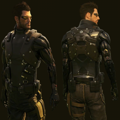 Модель персонажа с обеих сторон без плаща