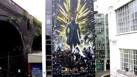 Deus Ex Mankind Divided - Augmented Mural