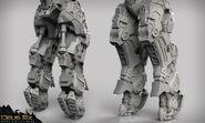 Exo-suit sculpt legs