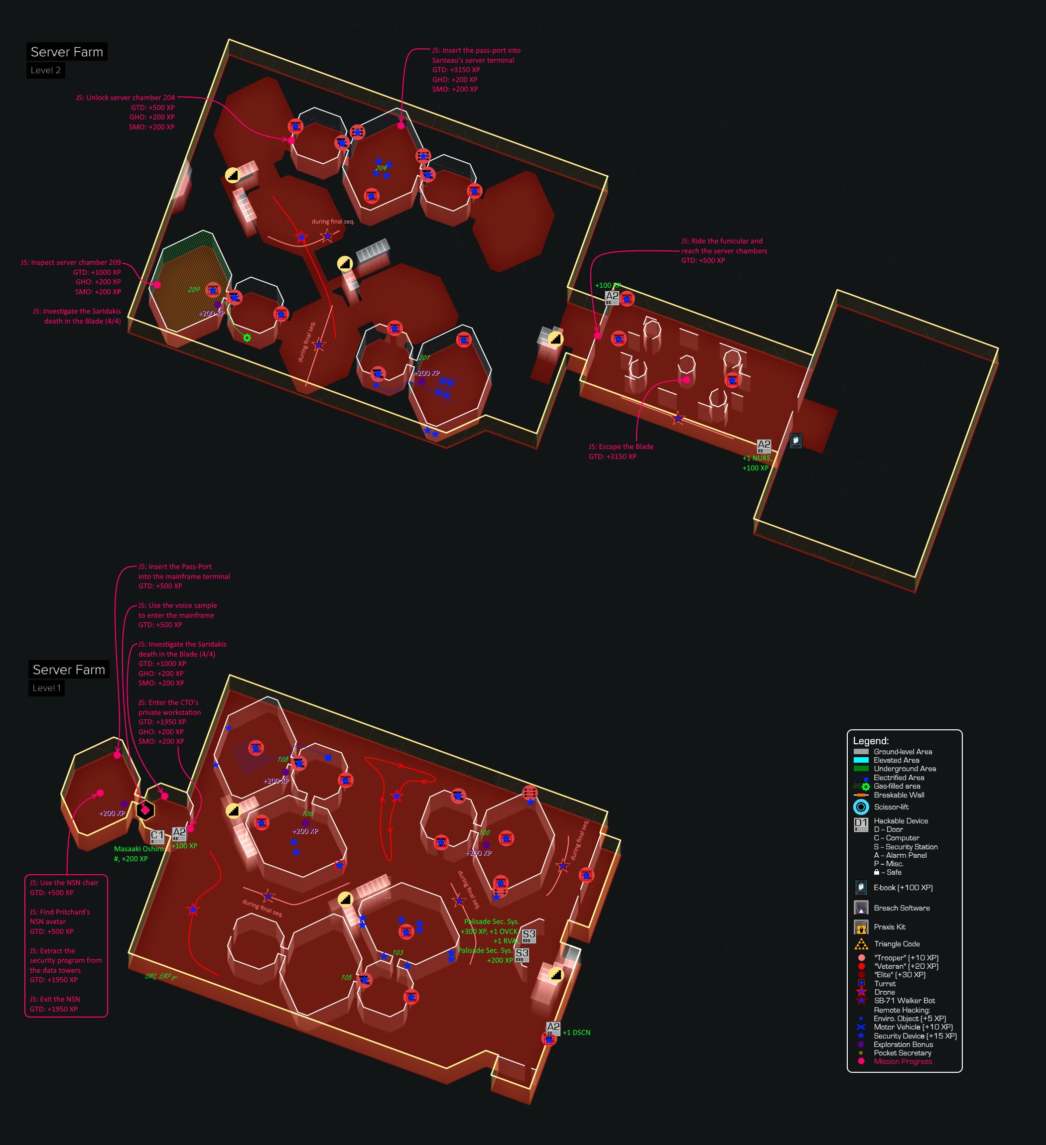 System Rift Walkthrough Deus Ex Wiki Fandom Powered By Wikia Fotos Recomended Stun Gun Circuit Diagram Annotated Map Of The Server Farm Area