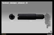 Tactical shotgun silencer 01