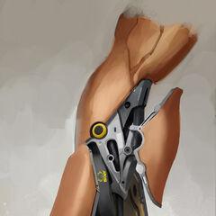 Дизайн его модифицированной руки