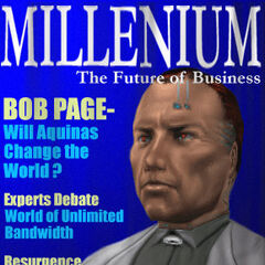 Боб Пейдж на обложке журнала Millenium
