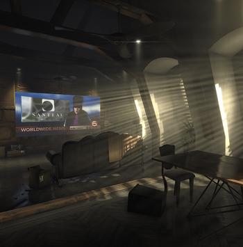 Image of Adam Jensen's apartment