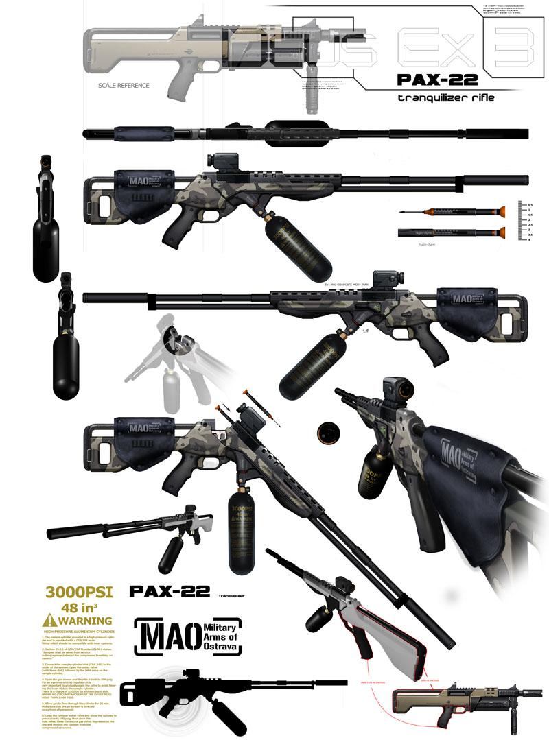 PAX-22 Tranquilizer Rifle | Deus Ex Wiki | FANDOM powered by