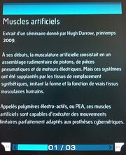 Muscles artificiel article hugh darrow