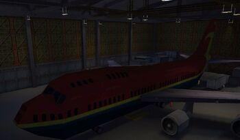 Image of Lebedev's 747