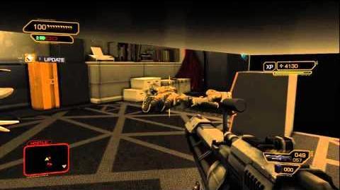 Deus Ex Human Revolution HILARIOUS Stupid AI Glitch - Taking Out 14 Tai Yong Medical Guards