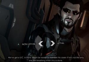 Deus Ex Mankind Divided Entscheidung