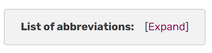 CollapsedAbbreviations