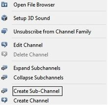 Sub channel