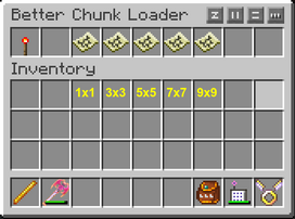 CHunk Loader Menu with numbers