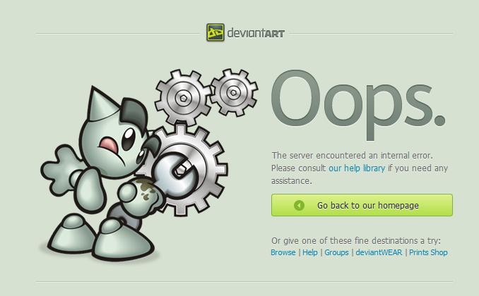 Deviantart 500 Internal Server Error Png