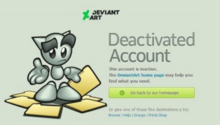 Deviantart new deactivated page