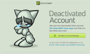 DeviantART Deactivated Account
