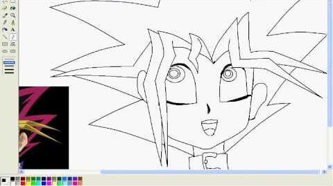 Dibujando en paint a yugi moto de del anime yu-gi-oh