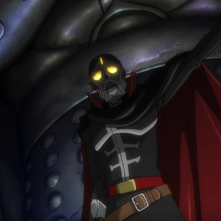 Skull, as seen at the end of the OVA, standing next to the Generalissimo.