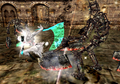 DMC2 - Lucia battles Agonofinis.png