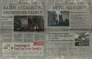 DMC5 Red Grave City newspaper texture