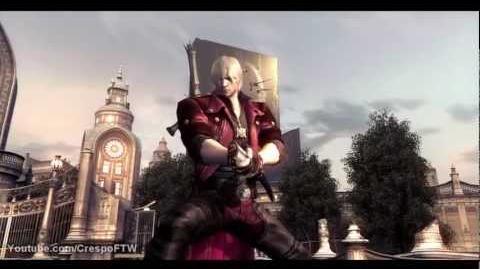 Dante usando Yamato espada de su hermano - DMC 4
