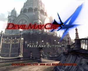 DMC4 Title Screen