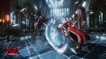 Devil May Cry Pinnacle of Combat - Game screen under development
