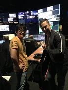 Itsuno and Matt backstage E3 2018