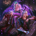 Teppen-Dante, Nero and Morrigan