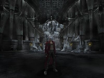 Dante i zamrożony Cerberus