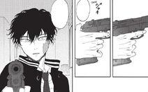 Ushio gets ready to shoot Tsukasa