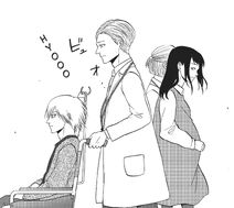 Hashimoto passes by Akimura