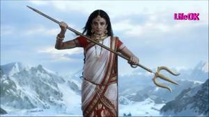 Shailputri Parvati Holding a Trident