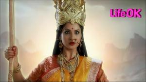 Bagalamukhi Devi Holding a Cudgel