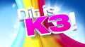 Dit is K3 titelscherm