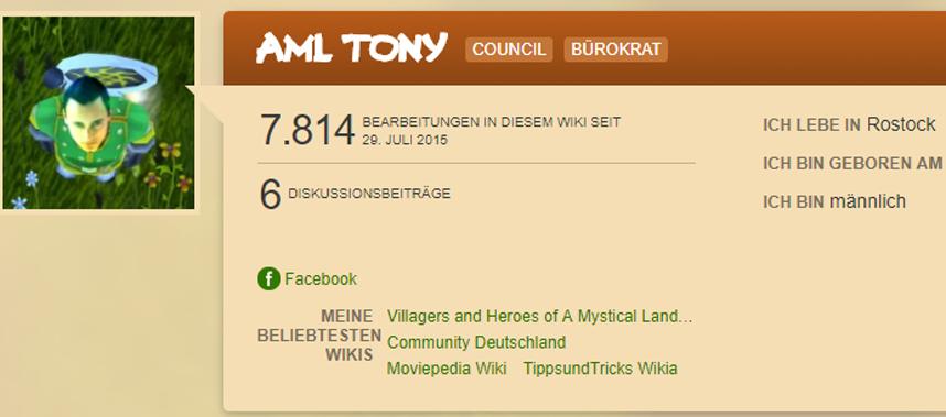 Benutzer AML Tony Main