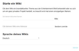 Starte ein Wiki 2018