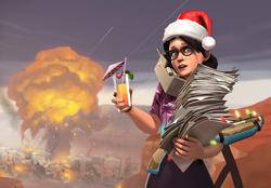 Team Fortress 2 Weihnachten Miss Pauling
